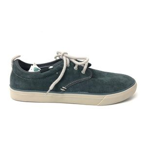 Sanuk Guide Plus Suede Shoes Mens Blue Sneakers